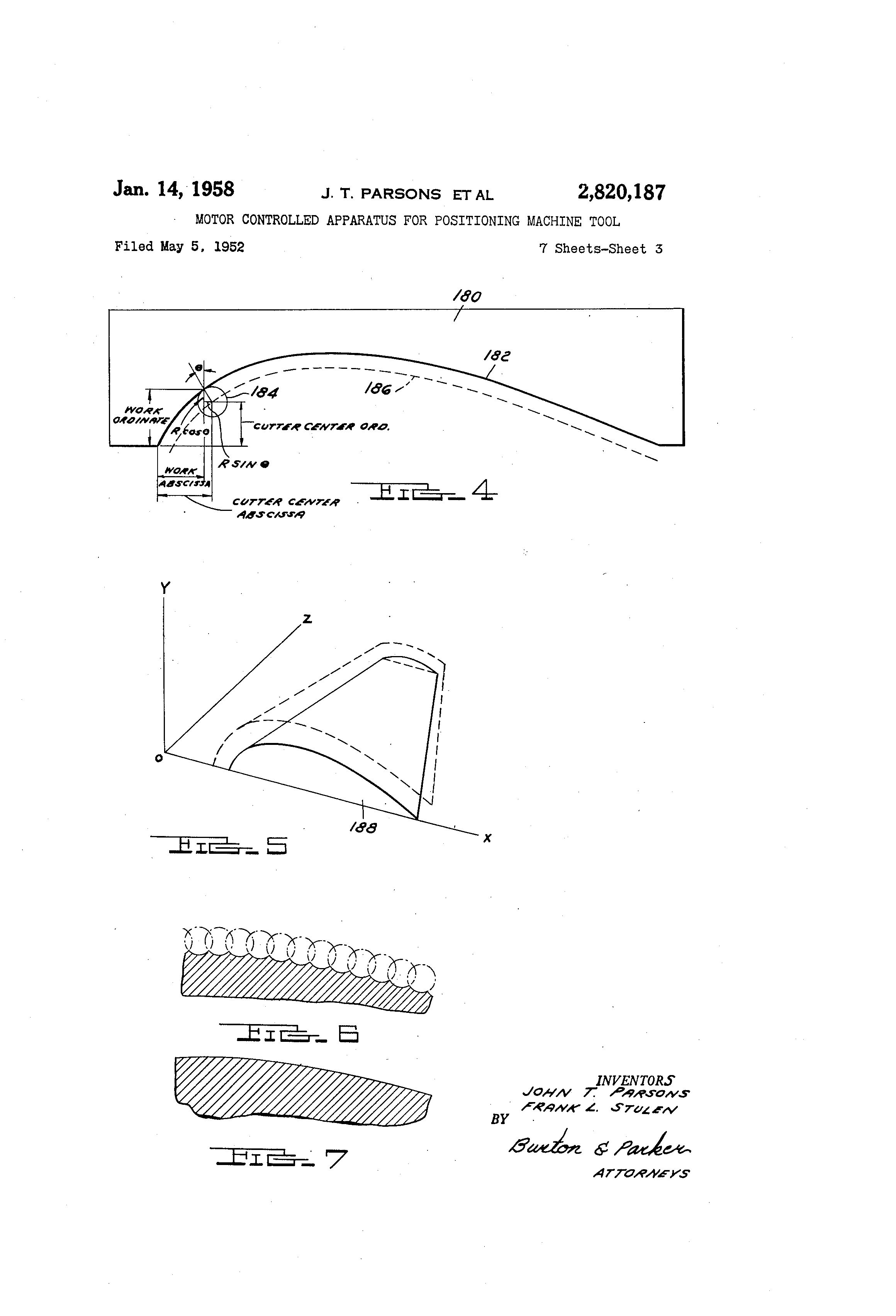 Figure 1: Excerpt from Parsons's Patent