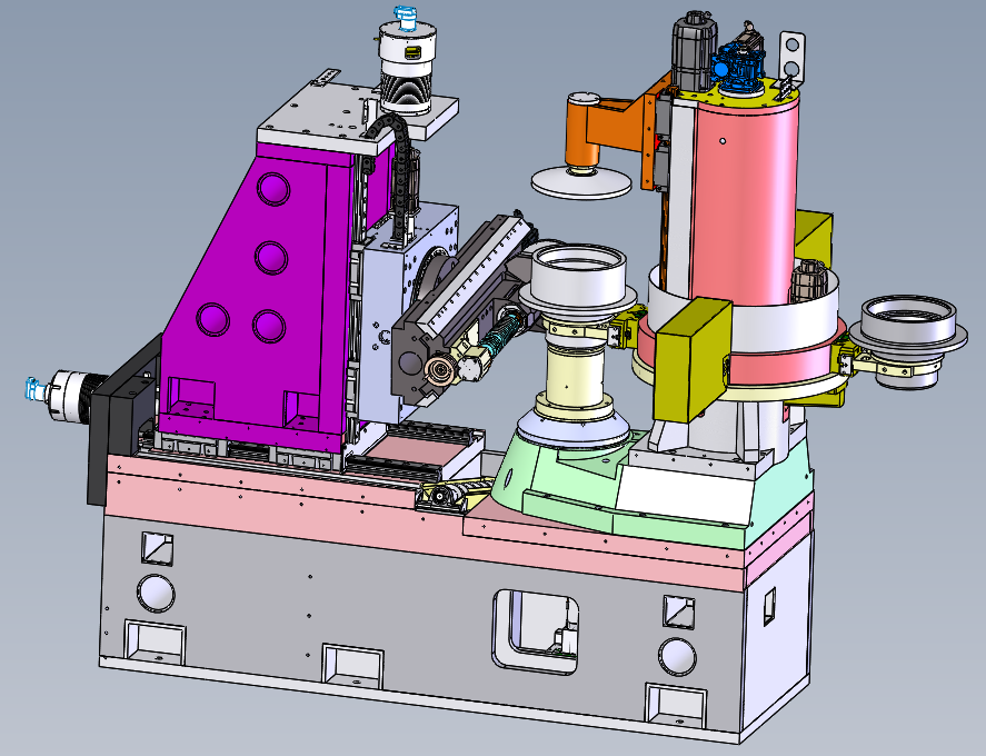 Figure 1: Digitally Designed CLC Shaping Machine Internals Shown with Optional Automation