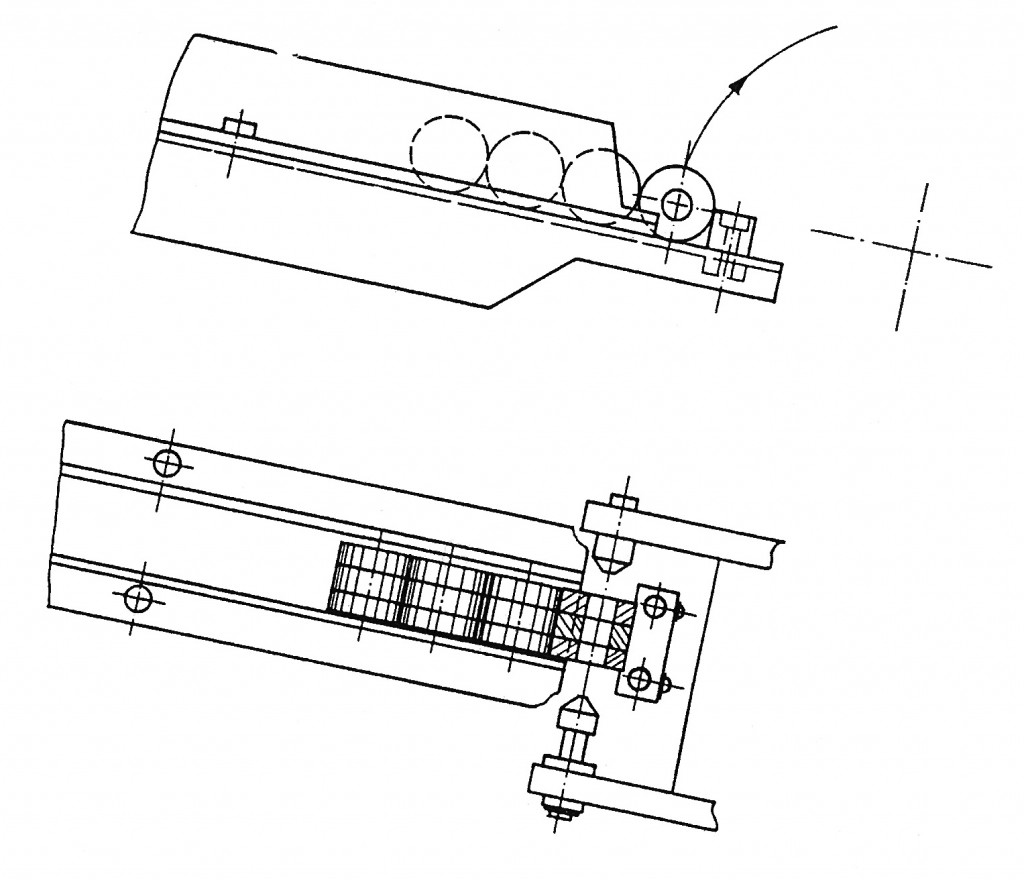 Figure 6 – Side and Top Views of Automation of Bore-type Parts
